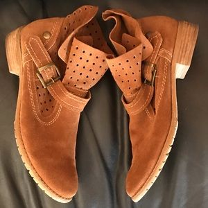Suede Leather Booties Boots Size 10 Restricted